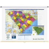 South Carolina Political State Wall Map