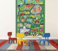 Tiny Town Illustrated Kids' Wall Mural