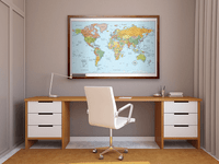 Signature Edition World Framed Wall Map