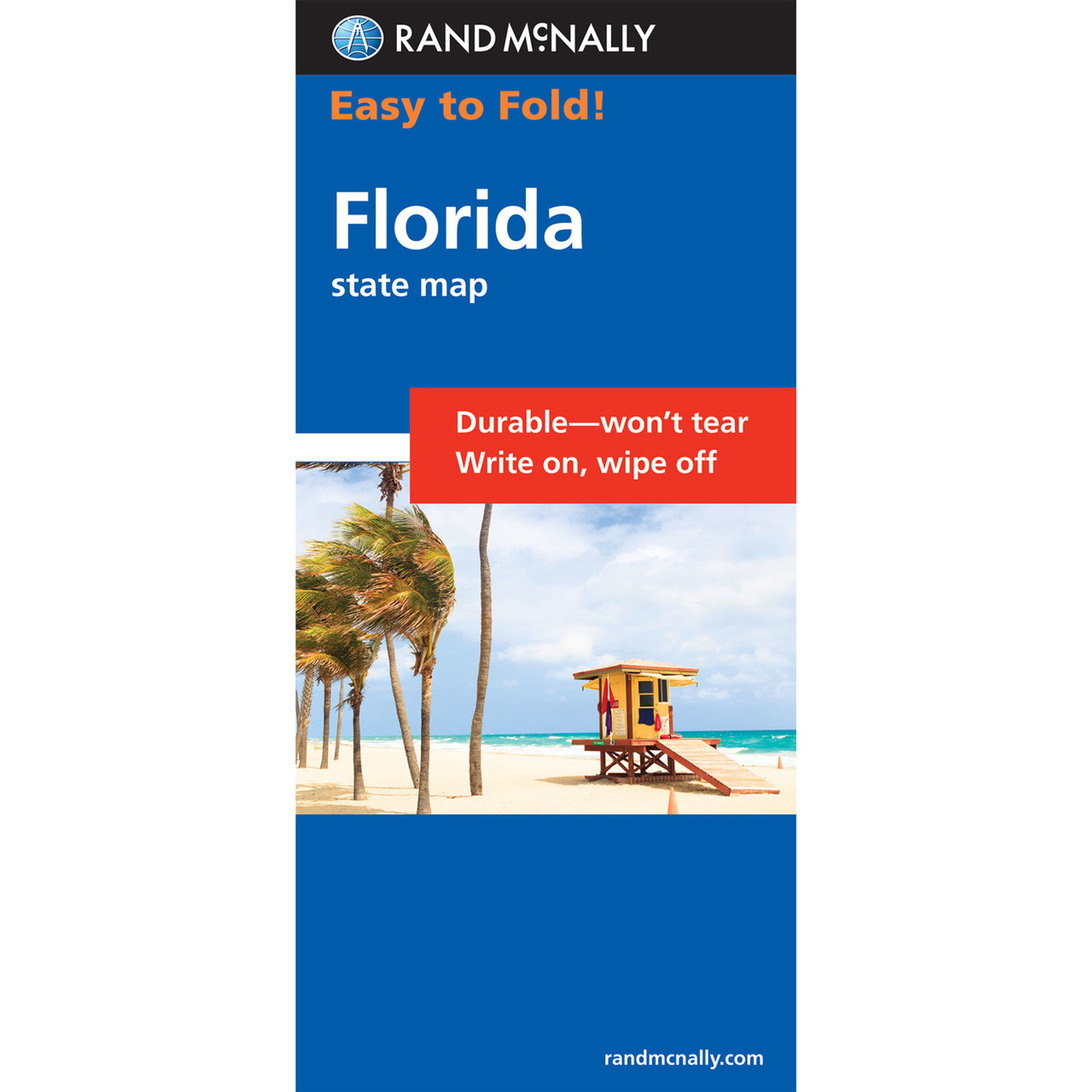 Rand McNally EasyToFold Map Florida - Rand mcnally easy to fold maps