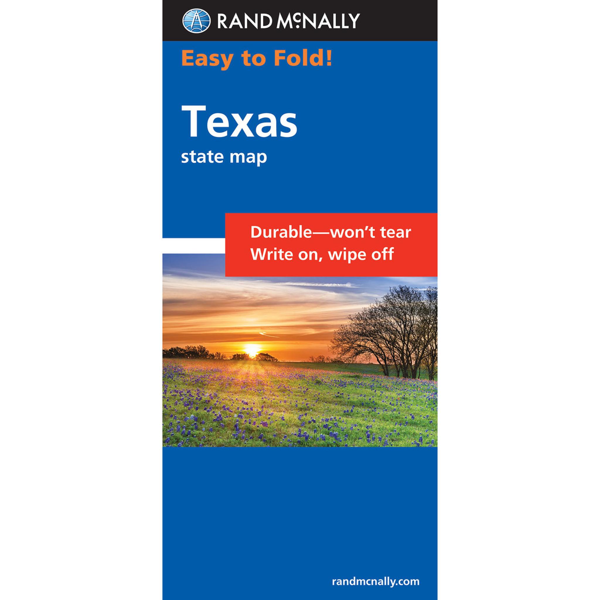Rand McNally EasyToFold Map Texas - Rand mcnally easy to fold maps