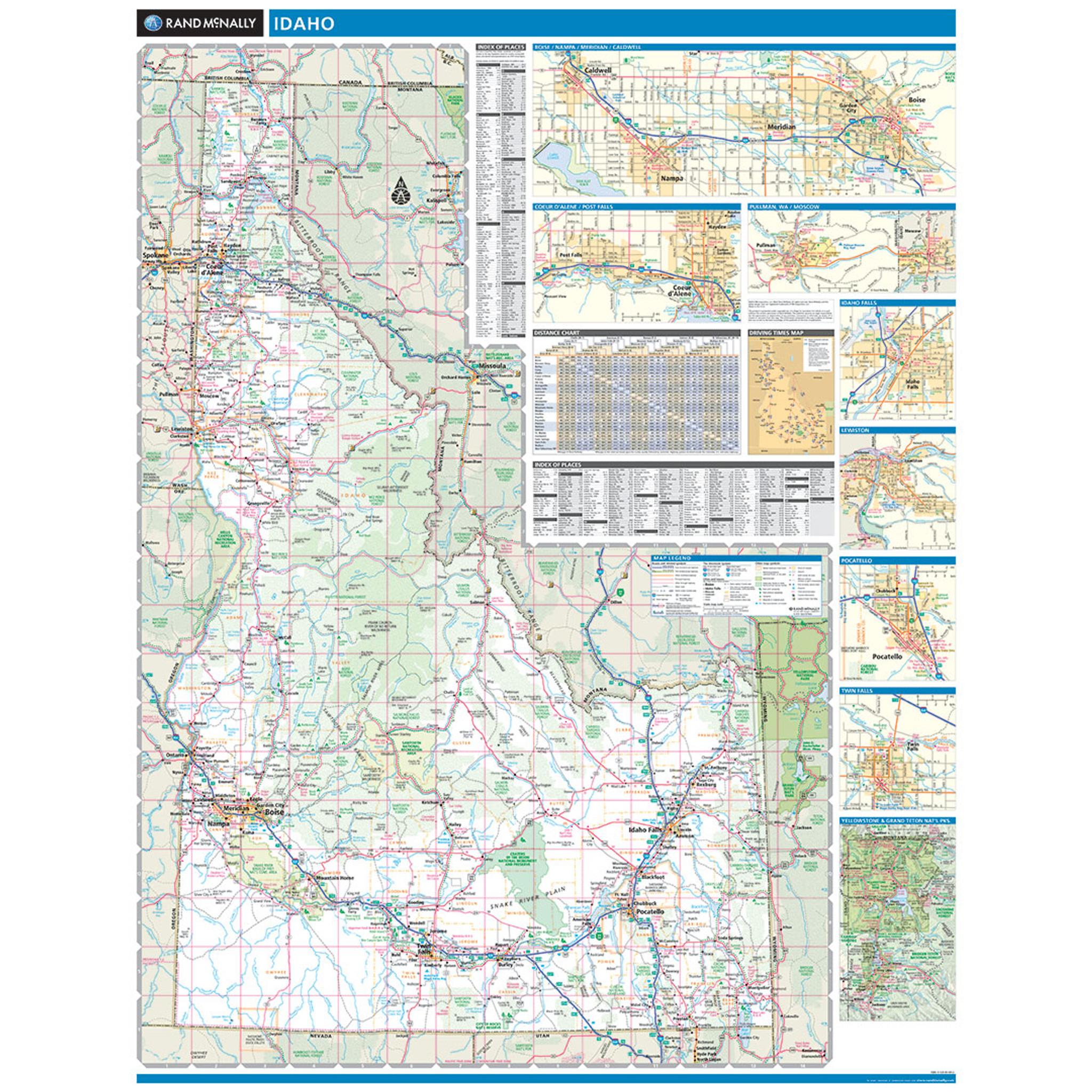 Rand McNally Idaho State Wall Map
