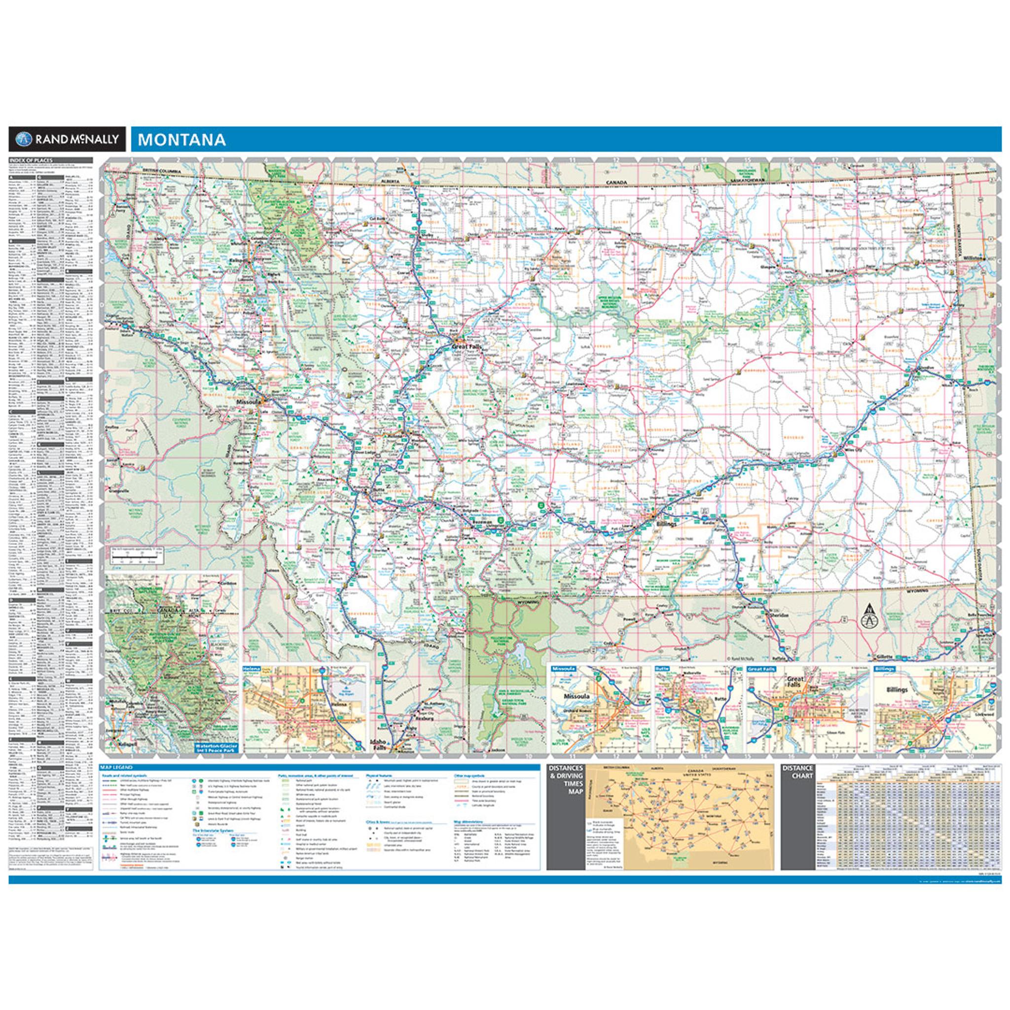 Rand McNally Montana State Wall Map