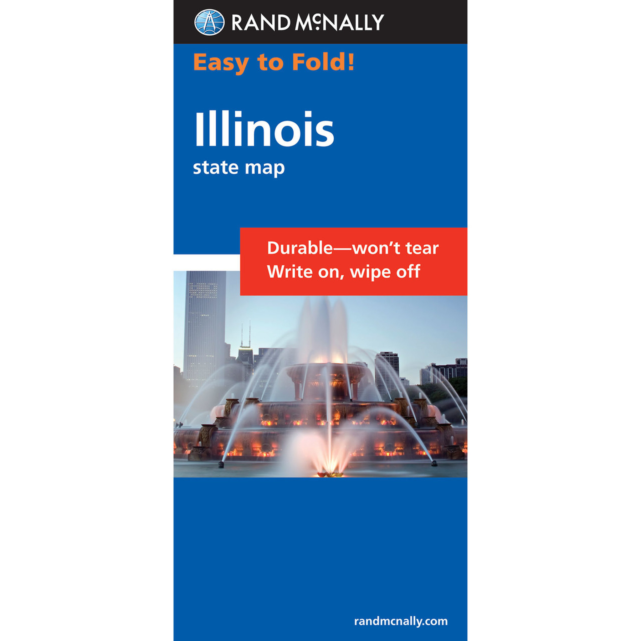 Rand McNally EasyToFold Map Illinois - Rand mcnally easy to fold maps