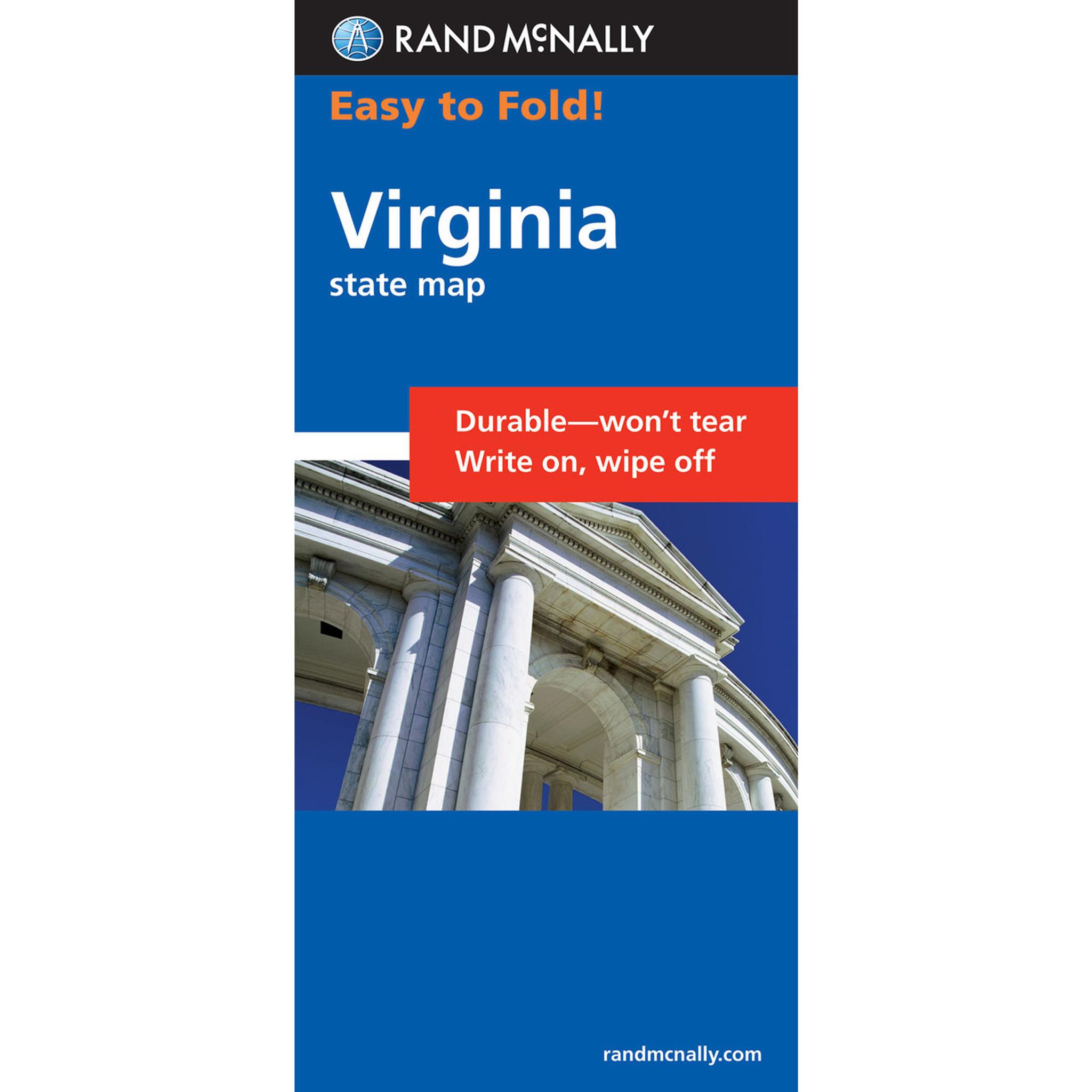 Rand McNally EasyToFold Map Virginia - Rand mcnally easy to fold maps