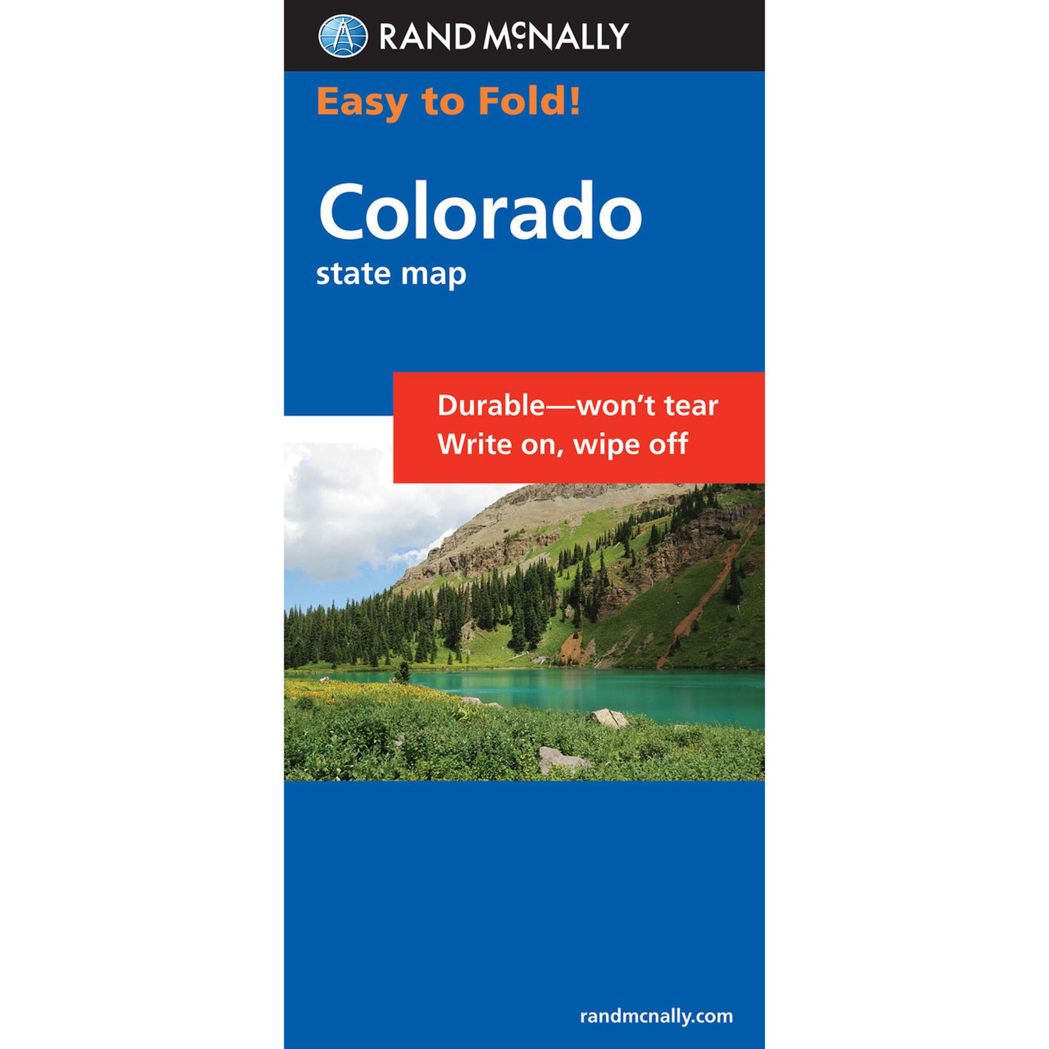 Rand McNally EasyToFold Map Colorado - Rand mcnally easy to fold maps