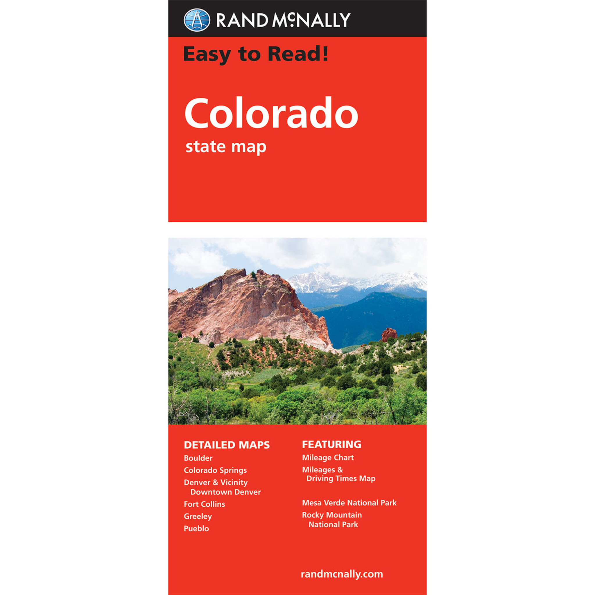 Rand McNally Easy To Read State Folded Map: Colorado