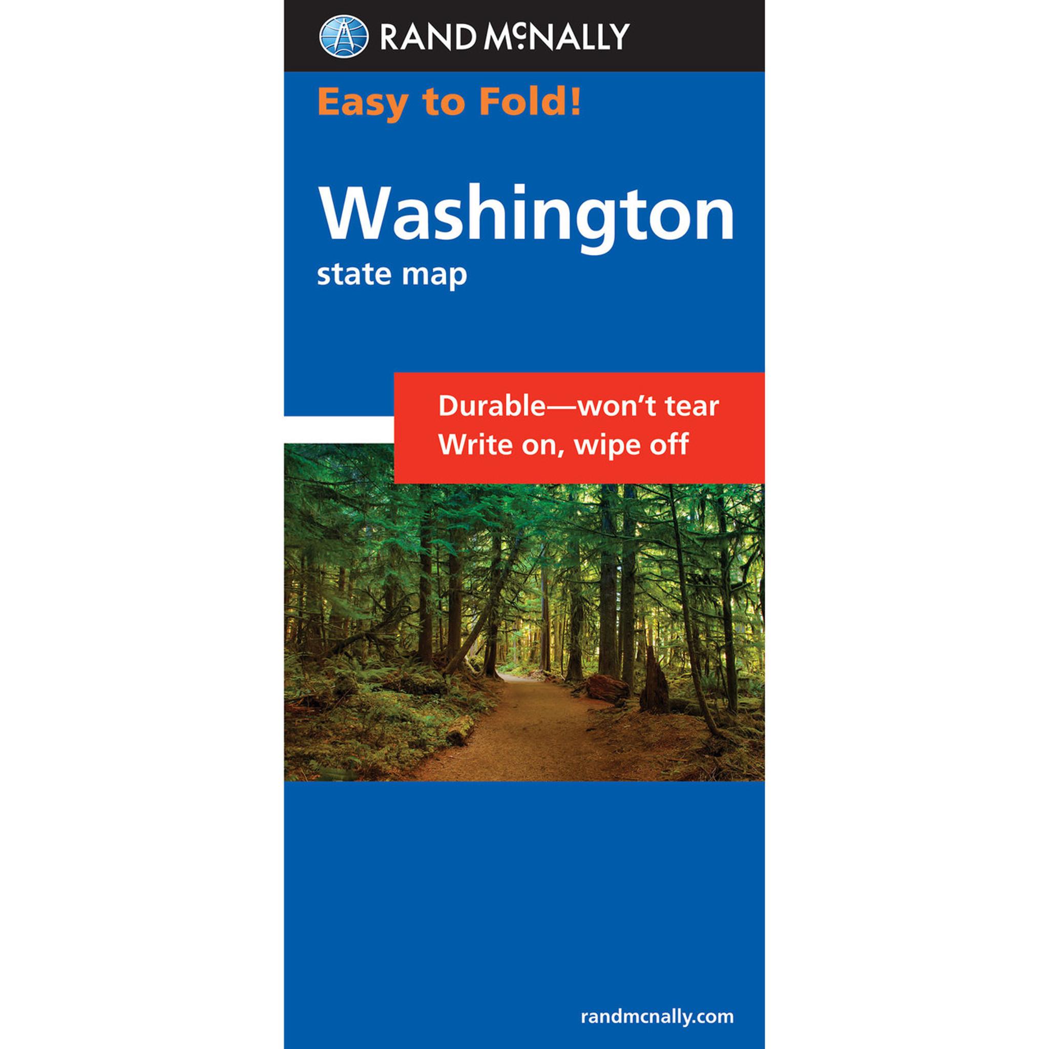 Rand McNally EasyToFold Map Washington - Rand mcnally easy to fold maps