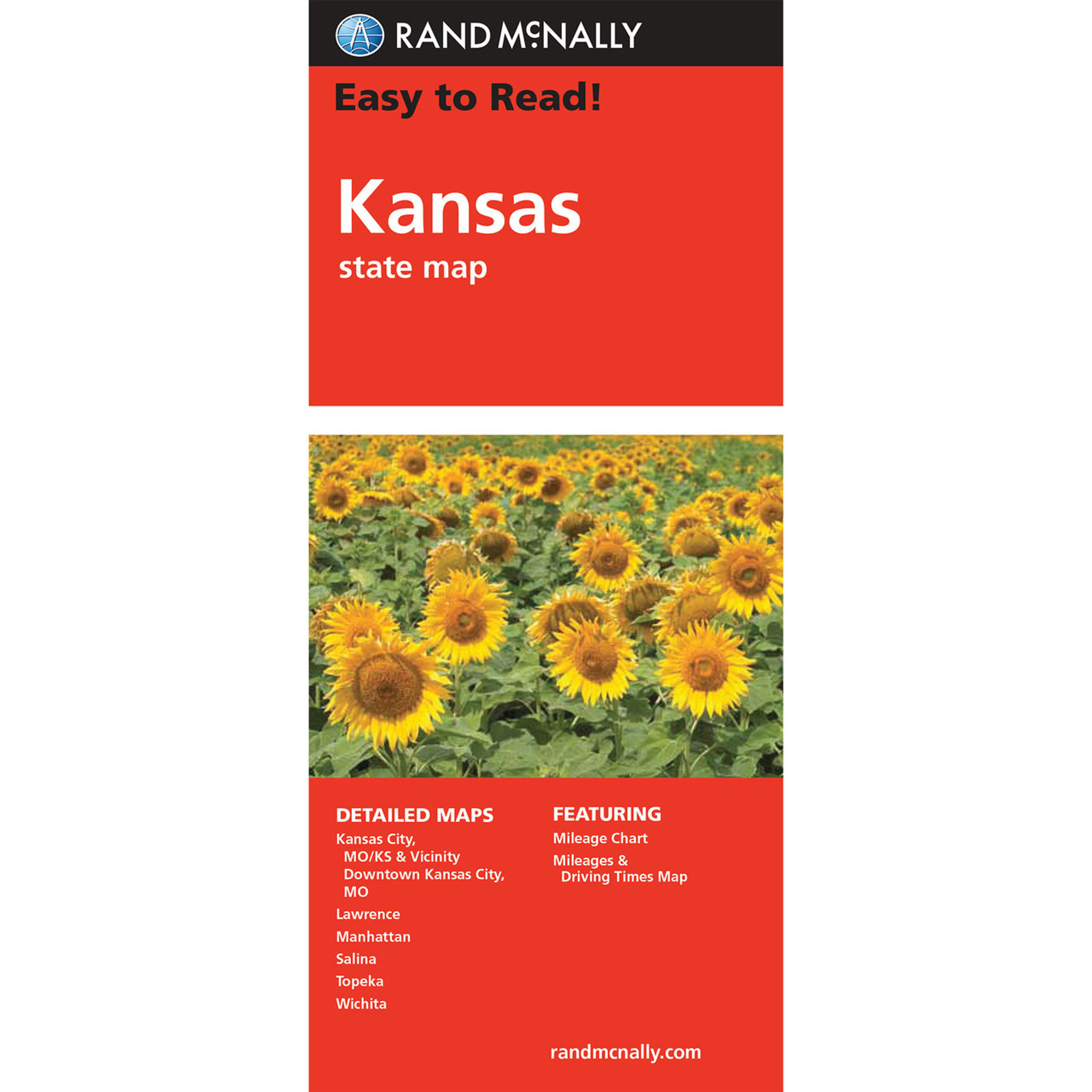 Rand McNally Easy To Read State Folded Map Kansas