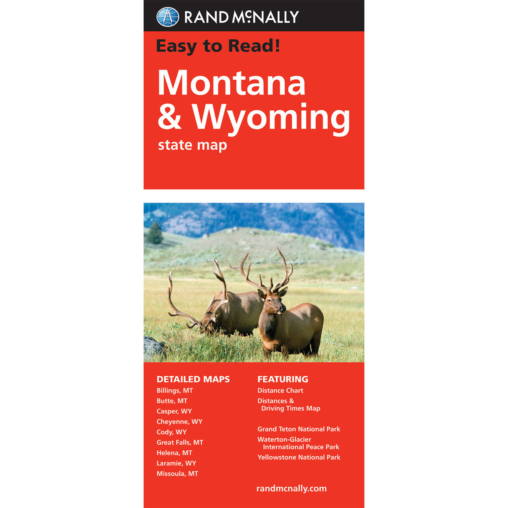 Rand McNally Easy To Read State Folded Map: Montana, Wyoming