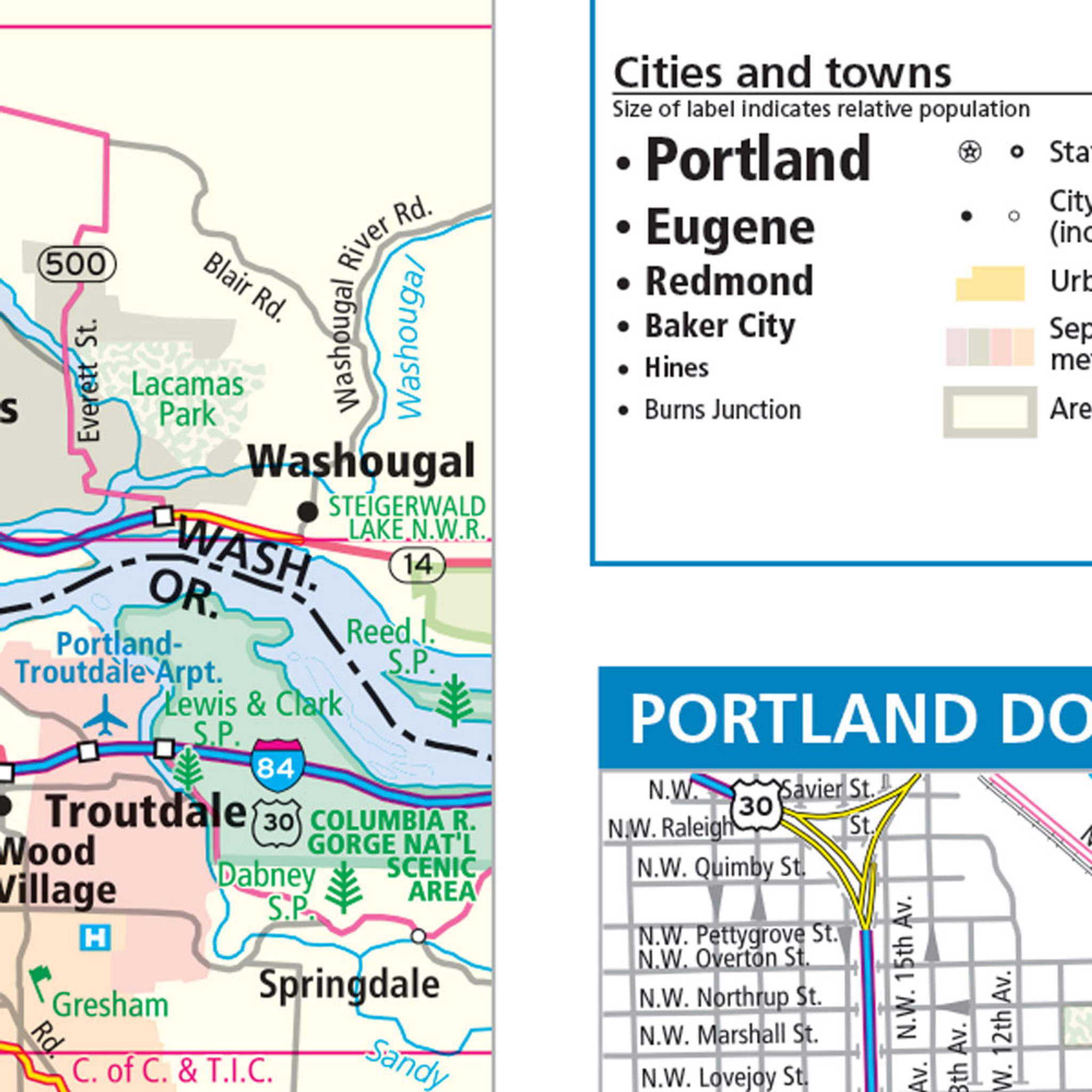 Rand McNally Oregon State Wall Map