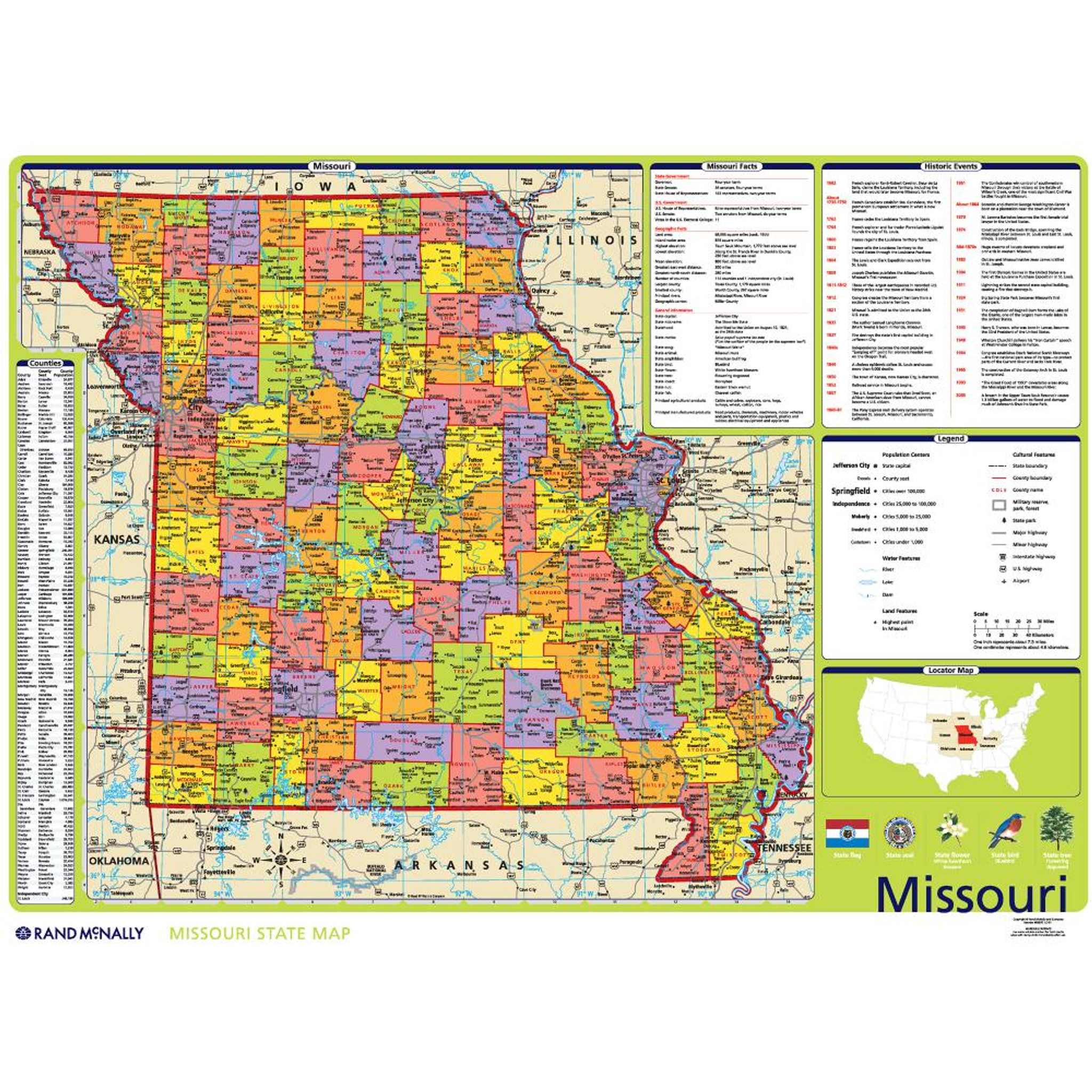 Missouri S Natural Resources Map
