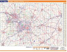ProSeries Wall Map: Raleigh, Durham