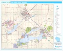 Pro Series Wall Map: Lake Geneva WI