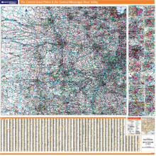 ProSeries Wall Map: The Central Great Plains & the Central Mississippi River Valley