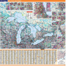 ProSeries Wall Map: Great Lakes