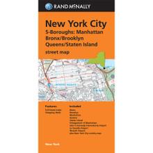 Folded Map: New York City 5 Boroughs (Manhattan/Bronx/Brooklyn/Queens/Staten Island)