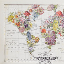 """""""Bouquet"""" Lithograph Wall Map"""