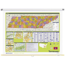 Tennessee Political State Wall Map