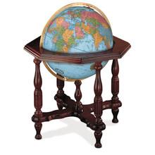 """Statesman Blue Oceans 20"""" Illuminated Floor Globe"""