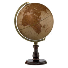 """Expedition Leather 12"""" Desk Globe"""