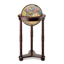 """Lancaster Antique Oceans 12"""" Illuminated Floor Globe"""