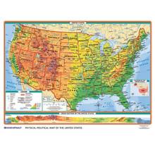 Physical-Political U.S./World Desk Map