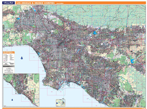 ProSeries Wall Map: Los Angeles & Orange Counties