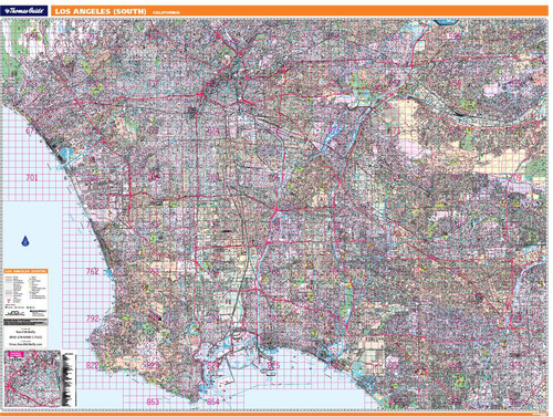 ProSeries Wall Map: South Los Angeles