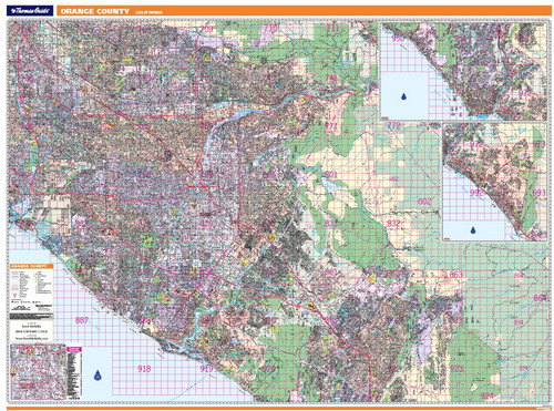 ProSeries Wall Map: Orange County