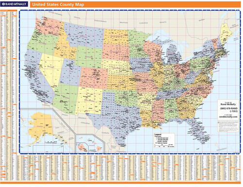 ProSeries Wall Map: United States Counties