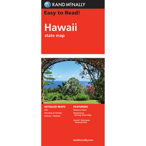 Folded Map: Hawaii State Map