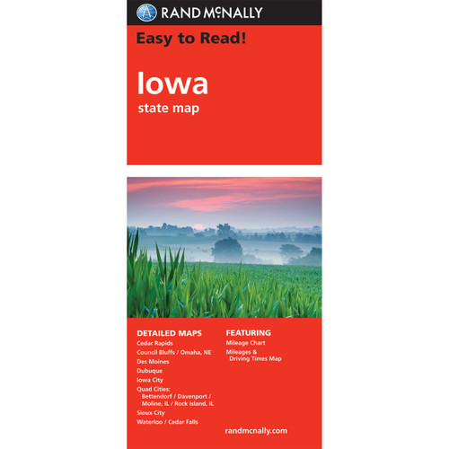 Easy To Read: Iowa State Map
