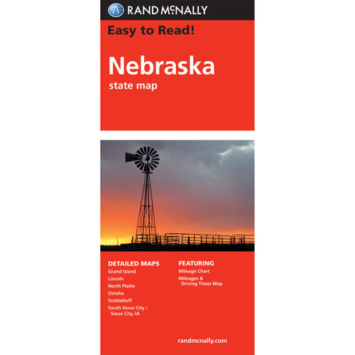 Easy To Read: Nebraska State Map