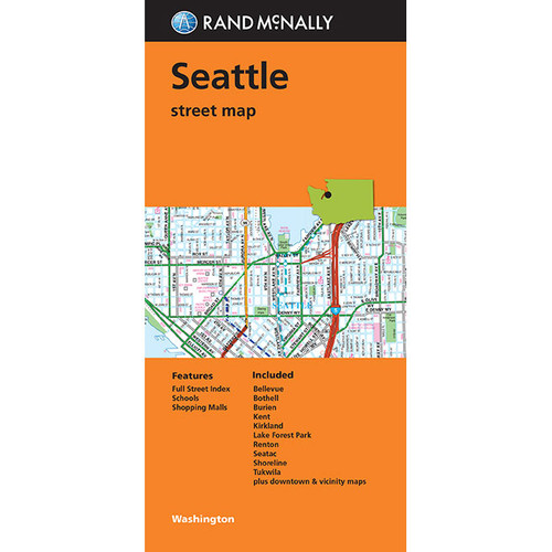 Folded Map: Seattle Street Map