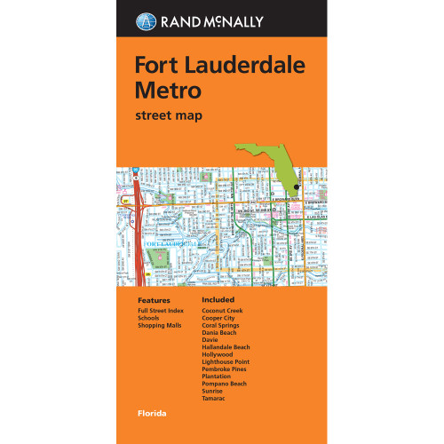 Folded Map: Fort Lauderdale Metro Street Map