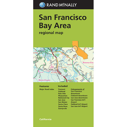 Folded Map: San Francisco Bay Area Folded Regional Map