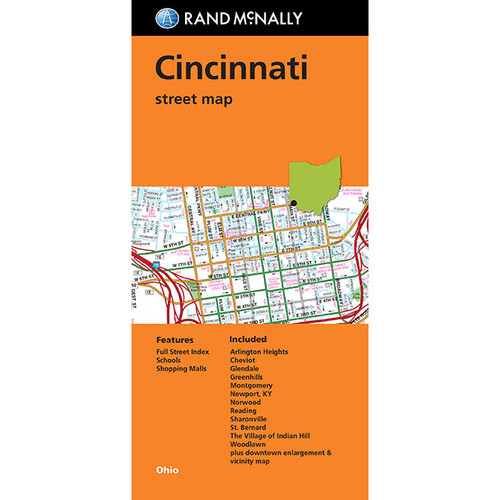 Folded Map: Cincinnati Street Map