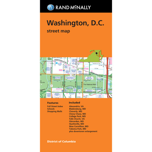 Folded Map: Washington, D.C. Street Map