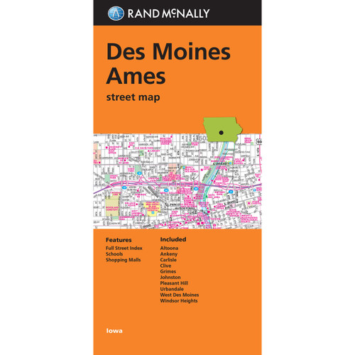 Folded Map: Des Moines and Ames Street Map
