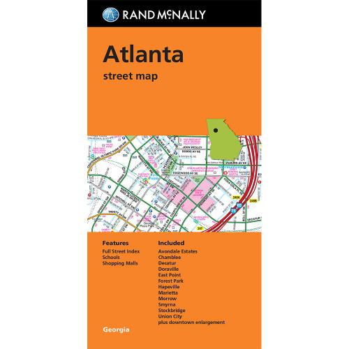 Folded Map: Atlanta Street Map