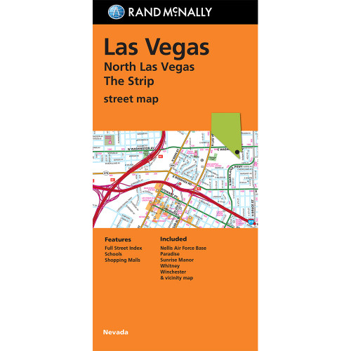 Folded Map: North Las Vegas The Strip Street Map