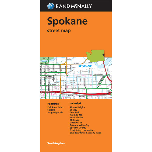 Folded Map: Spokane street map