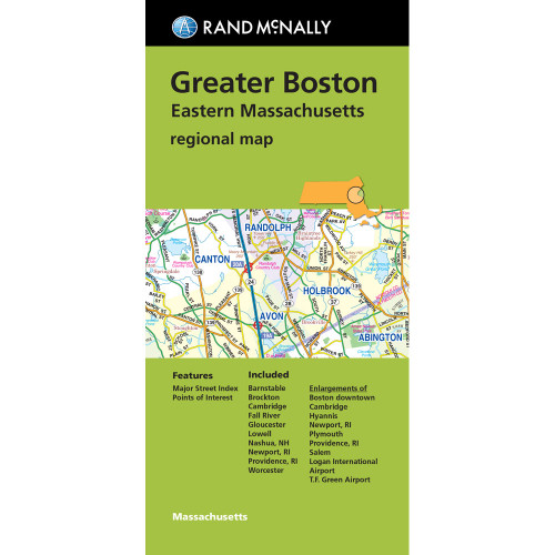 Folded Map: Greater Boston Eastern Massachusetts Regional Map