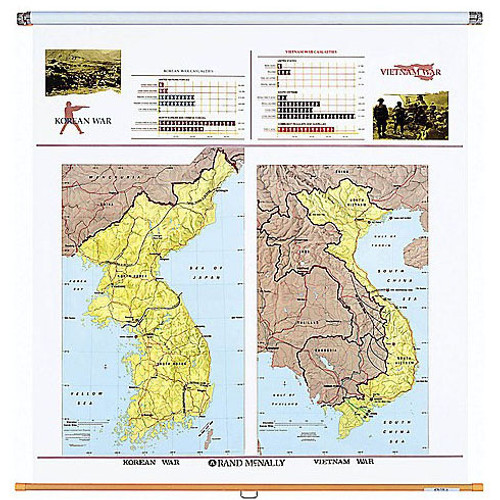Korean and Vietnam Wars Wall Map