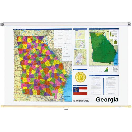 Georgia Political State Wall Map
