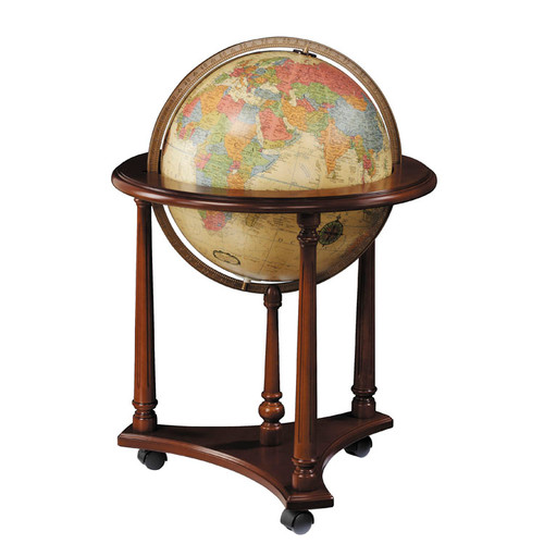 "LaFayette Antique Oceans 16"" Illuminated Floor Globe"
