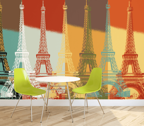 Eiffel Tower Wall Mural
