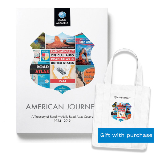 American Journey: A Treasury of Rand McNally Road Atlas Covers | Free tote bag with purchase!