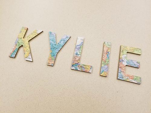 Map Crafts: DIY Decorative Letters